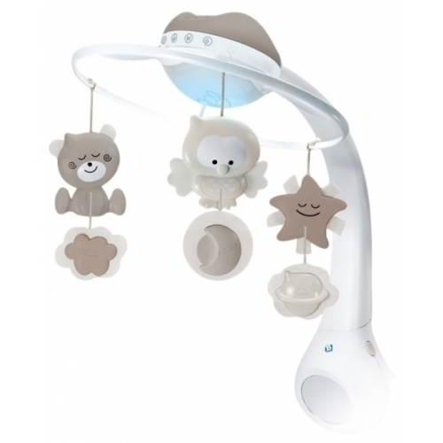 B Kids- Muzikale Projector Mobiel Grey - Twinkel - Lampen