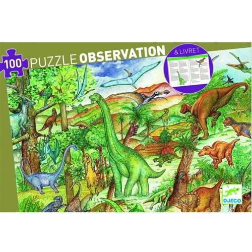 Djeco - Puzzel Dinosaurussen - Vanaf 5 jaar - Djeco - Puzzels
