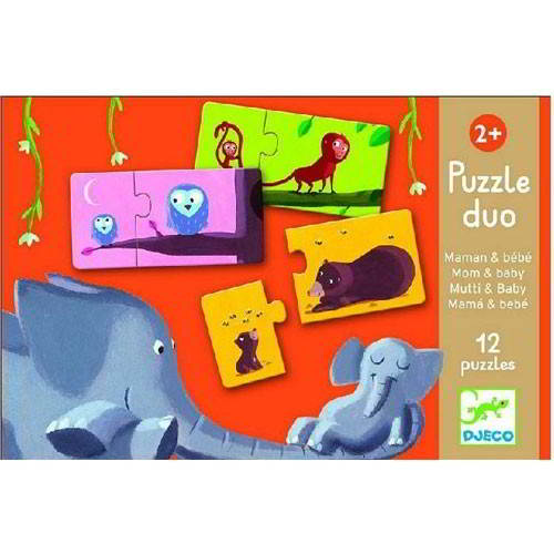 Djeco - Puzzel Duo - Vanaf 2 jaar - Djeco - Puzzels