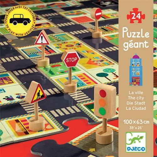 Djeco - Puzzel Grote Stad - Vanaf 3 Jaar - Djeco - Puzzels