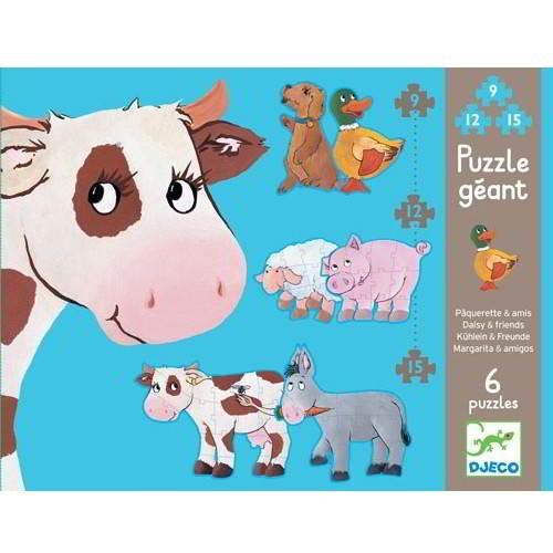 Djeco - Puzzel Koe en Vriendjes - Vanaf 3 jaar - Djeco - Puzzels