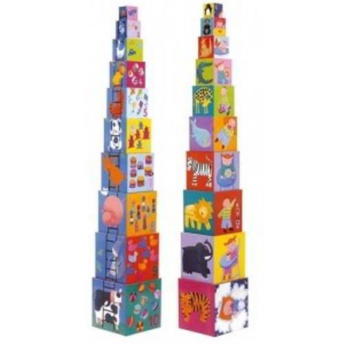 Djeco - Stapelblokken - Vanaf 1 jaar - Djeco - Babyspeelgoed