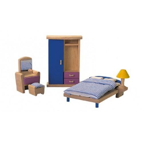 PLan Toys - Poppenhuis - Slaapkamer Neo - Plan Toys - Poppenhuizen