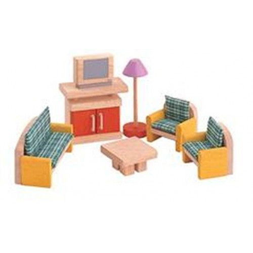 Plan Toys - Poppenhuis - Woonkamer - Plan Toys - Poppenhuizen