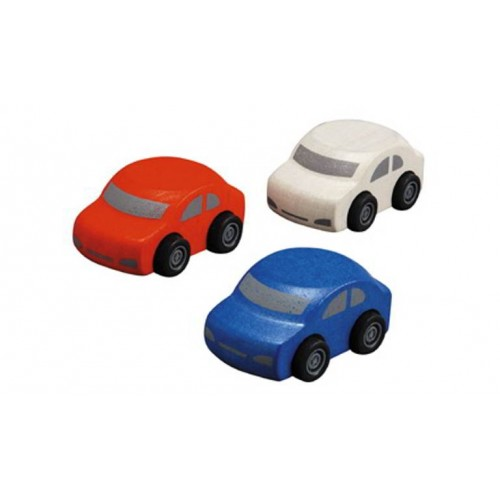 Plan Toys - Set van drie autos - Plan Toys - Alles wat rijd