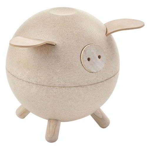 Plan Toys - Spaarpot Varken Wit - Plan Toys - Spaarpotten