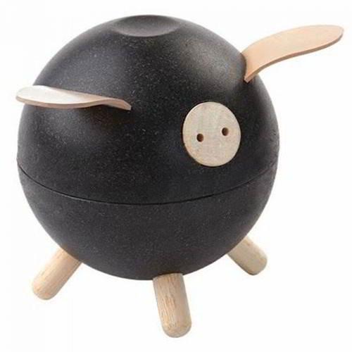Plan Toys - Spaarpot Varken Zwart - Plan Toys - Spaarpotten
