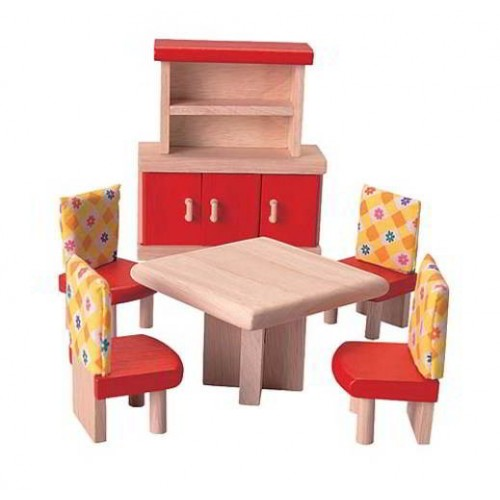 Poppenhuis - Eetkamer Neo - Plan Toys - Poppenhuizen