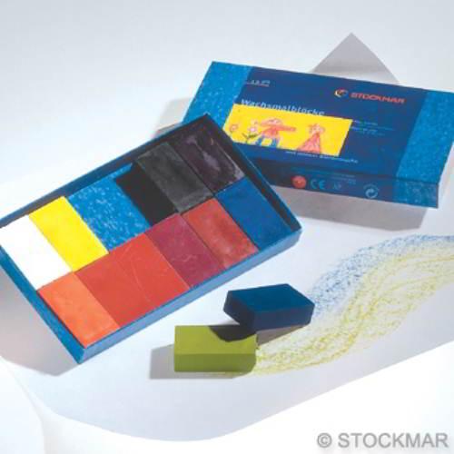 Stockmar Bijenwas Blokjes- 12 stuks - Stockmar - Knutselen