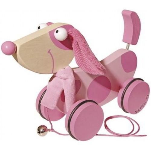Scratch - Trekdier Roze hond - Scratch - Trekfiguren