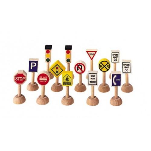 Verkeerslichten en Borden - Plan Toys - Alles wat rijd