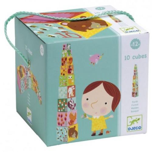Djeco - Stapelblokken - Bosdieren - Djeco - Babyspeelgoed