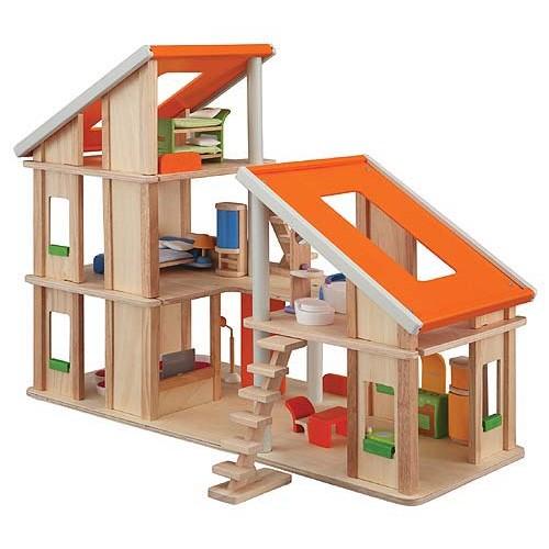 Poppenhuis - Chalet - Plan Toys - Poppenhuizen